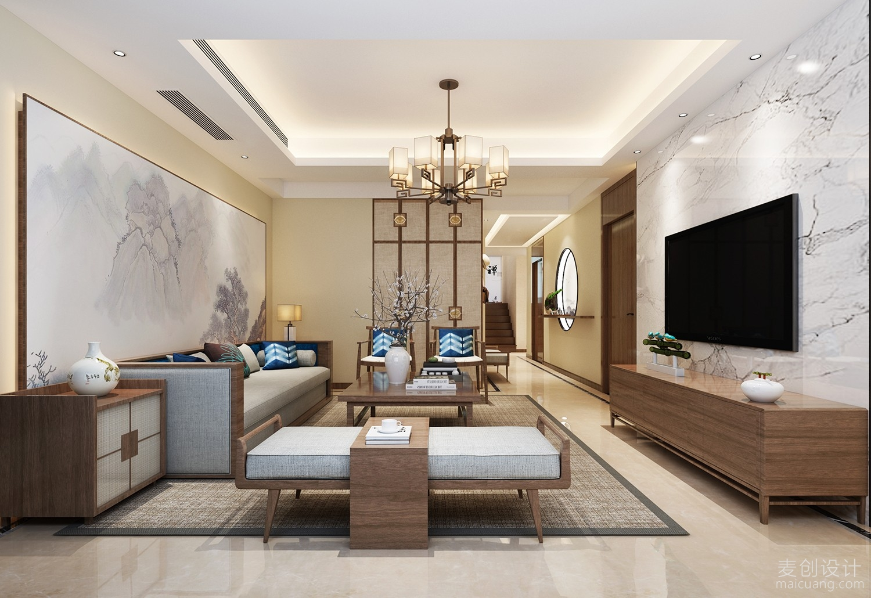 新中式客厅家装效果图
