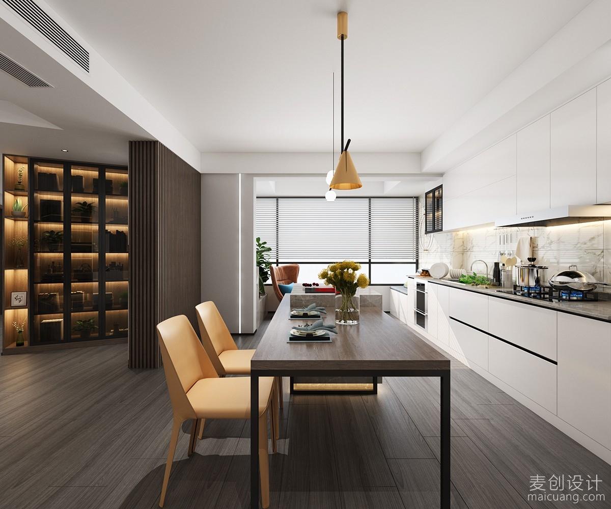 吧台厨房客厅空间