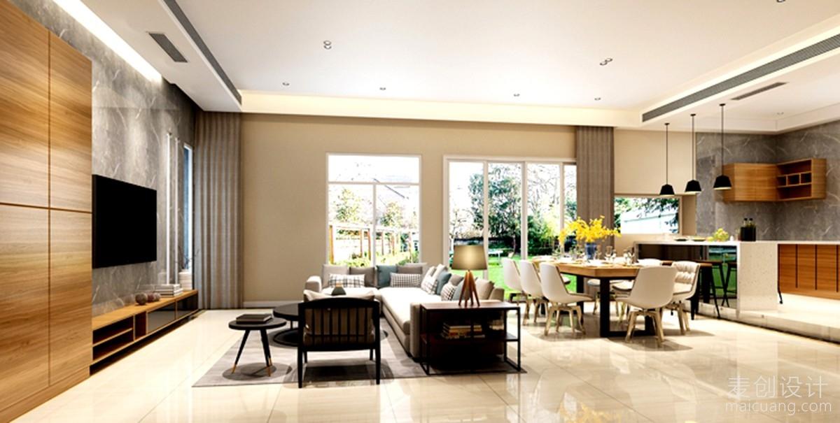 现代简约别墅客厅