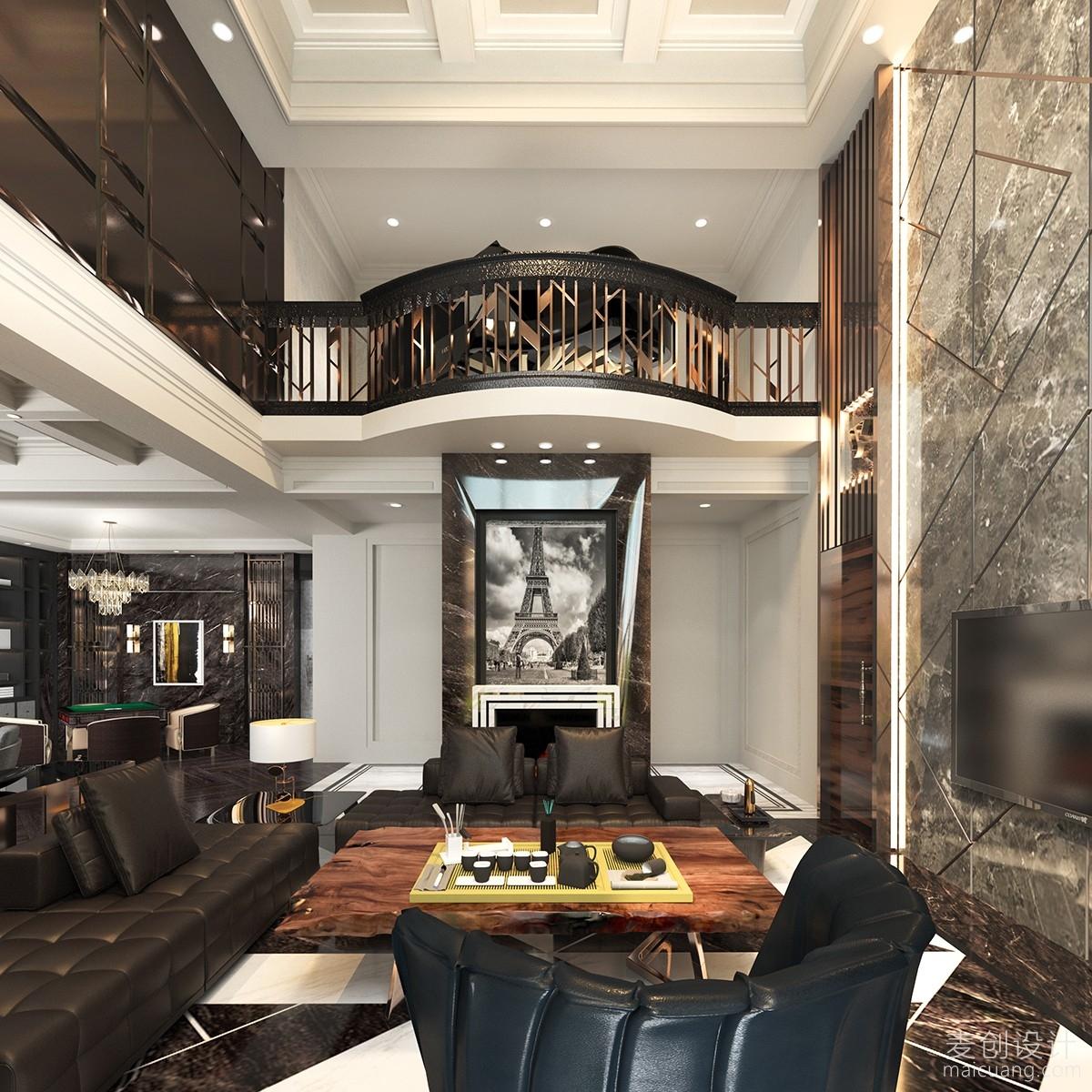 豪华挑空客厅家庭装修设计图