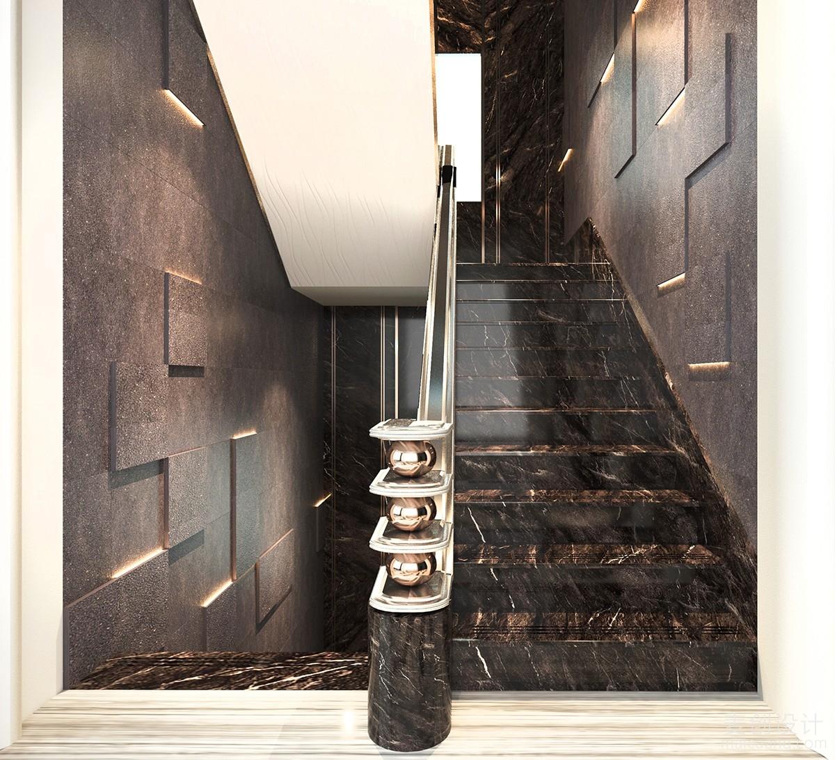 家庭装修方案豪华的楼梯