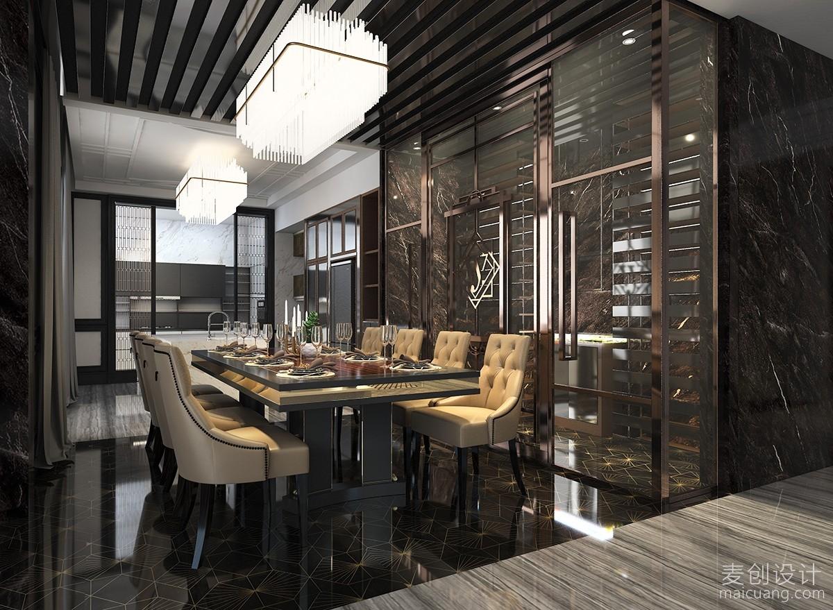 黑白现代简约餐厅