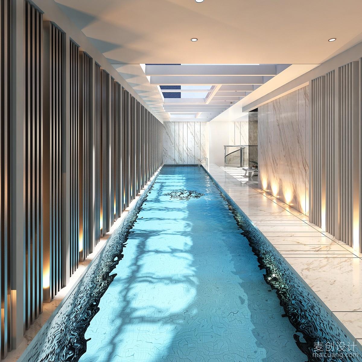 别墅设计游泳池装修图片