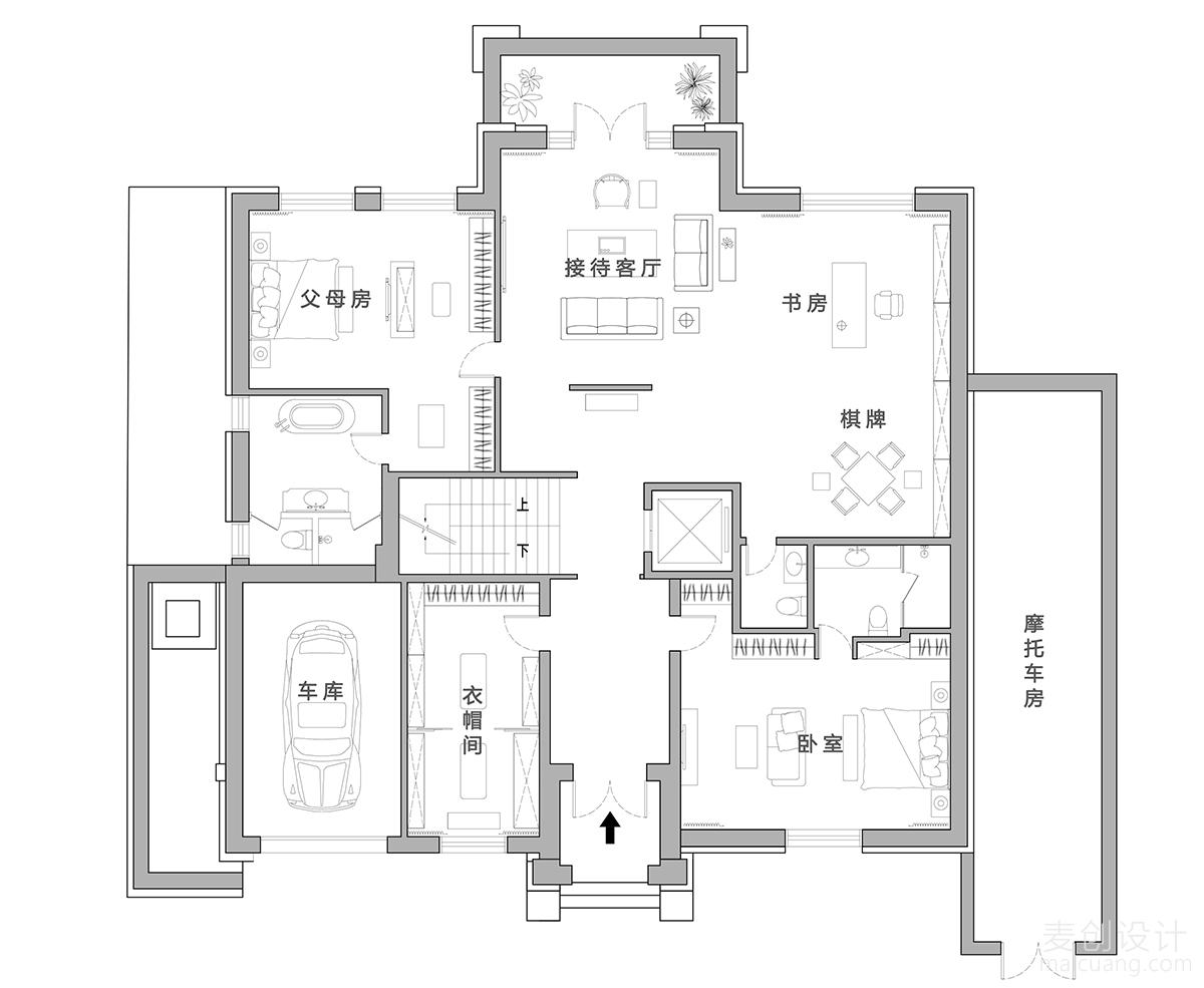 家庭装修方案平面图