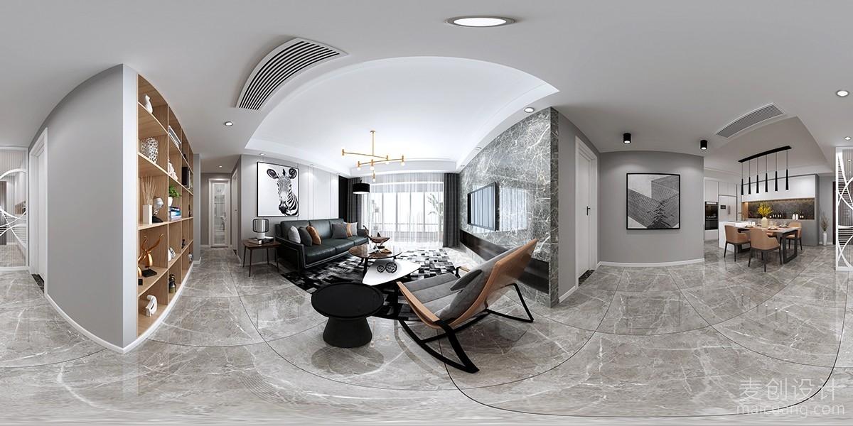客厅全景装修设计效果图