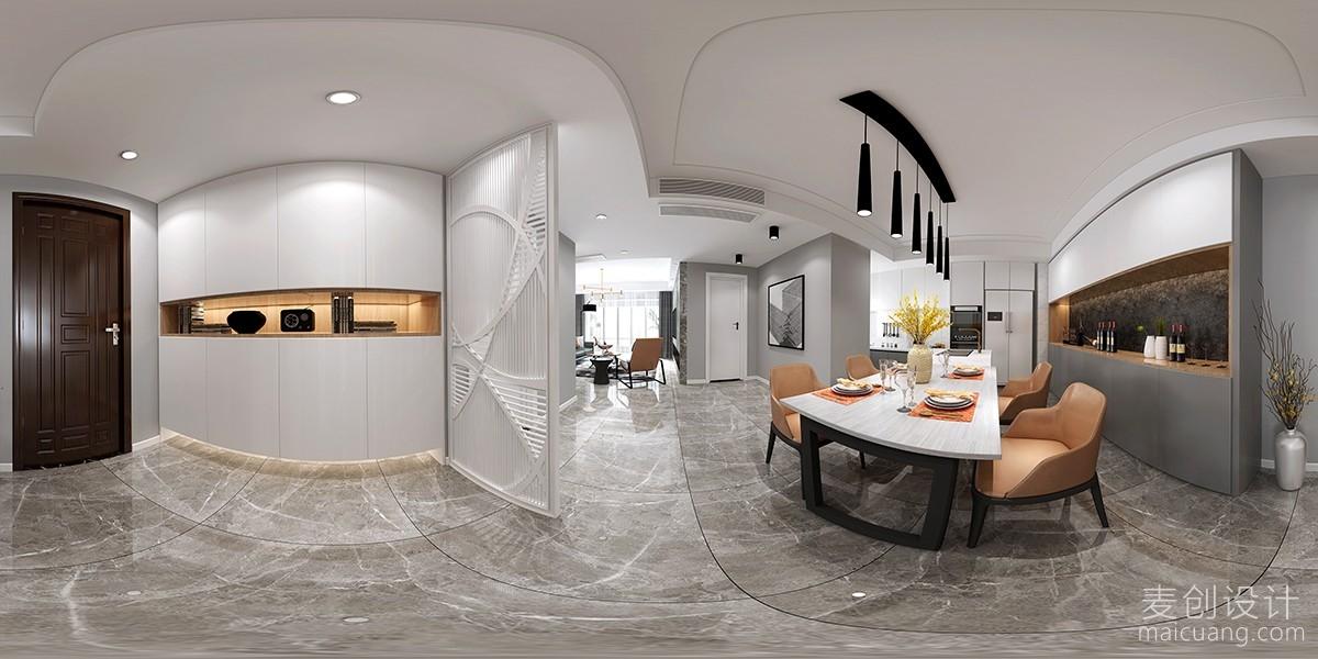餐厅全景北欧风格装修设计效果图