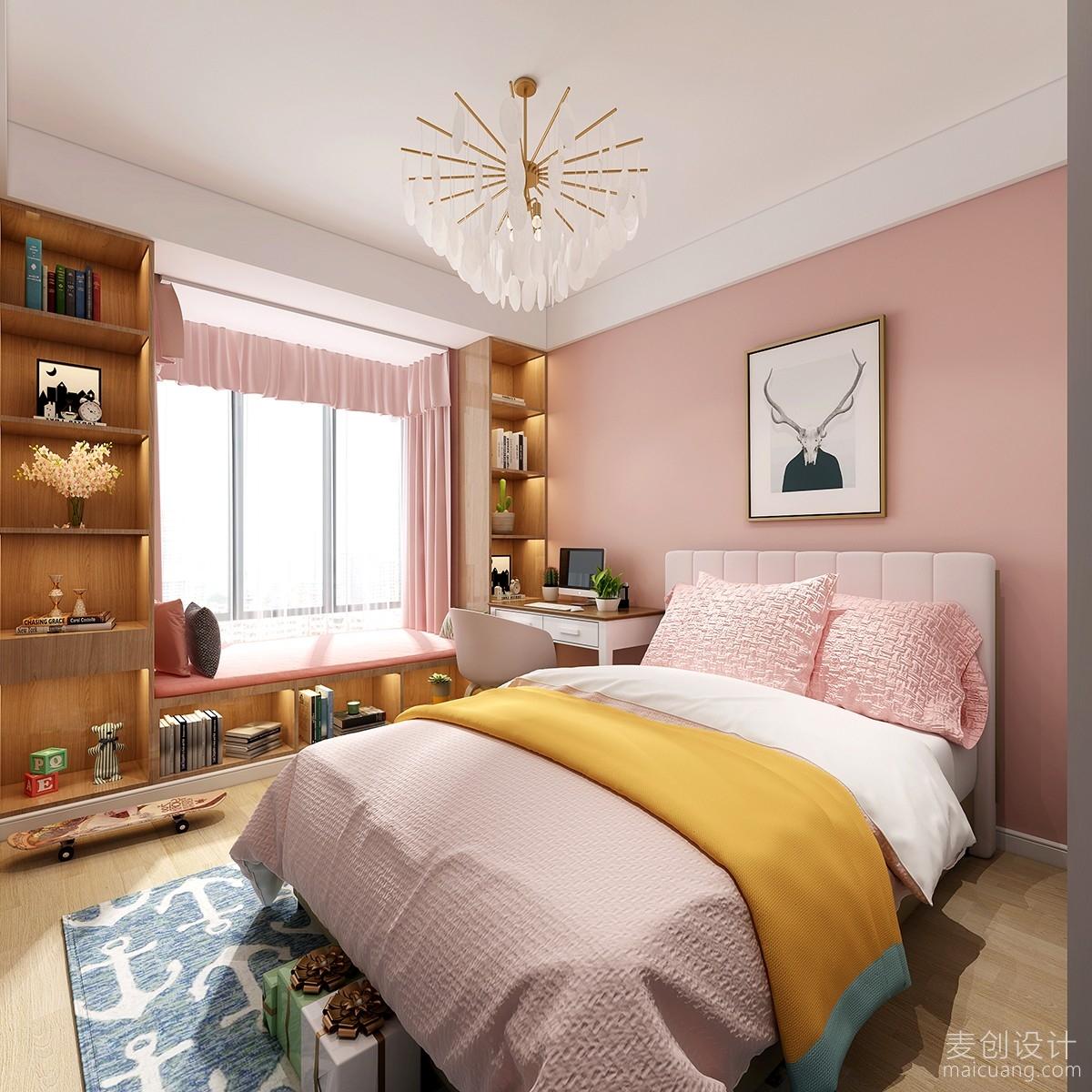 女孩房间北欧风格装修设计效果图